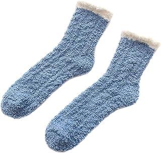 Wollaston, Calcetines cálidos de lana de cordero, 2/4 pares de calcetines de lana para niñas, calcetines de suelo con tubo medio, calcetines de lana cálidos, calcetines de lana medianos