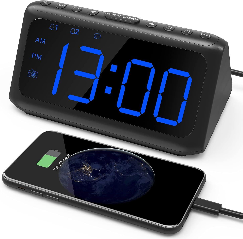 Alarm Clock Radio IWVMEM Lar with FM San Francisco Mall Financial sales sale Digital