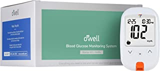 O'WELL Tyson Diabetes Testing Kit | Starter Kit + 50 Refills | Tyson HT100 Blood Glucose Meter, 50 Test Strips, 50 Lancets, Lancing Device, Control Solution, Log Book, Manuals and Carry Case