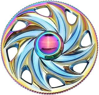 3-5 Mins Fidget Spinner EDC Hand Fidget Toy, Multicoloured Steering Wheel Rainbow Electroplating Alloy Stress Reducer High...