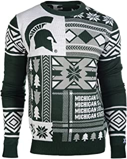 michigan state spartans ugly christmas sweater
