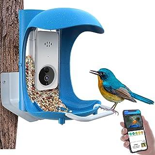 JOW Smart Bird Feeder with Camera WiFi APP Install, Quality Visual Storage Intelligent Feeders, Night-Version Video Camer...