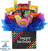 Happy Birthday Gift Box with Popular Name Brand Chocolate and Candy.