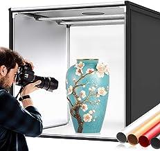 Photo Box, SAMTIAN Photo Light Box 32x32x32 Inches 126 LED Light Photo Studio Shooting Tent Tabletop Photography Lighting ...