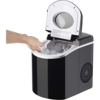 SOLTRONICS Portable Ice Maker 28LBS/24H, Countertop Ice Maker Machine with Ice Scoop and Basket for Home/Office/Bar/KTV, 9 Ice Cubes Ready in 6 Minutes