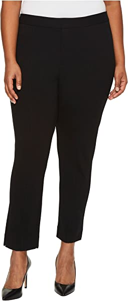 NYDJ Plus Size Plus Size Ponte Ankle Pants in Black
