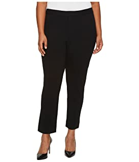 Plus Size Ponte Ankle Pants in Black