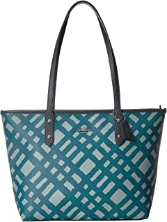 Women's Wild Plaid City Zip Tote