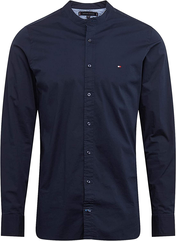 Tommy Hilfiger Slim Stretch Mandarin Shirt Camisa para Hombre