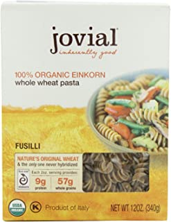 Jovial 100 % Organic Whole Grain Einkorn Fusilli, 12-Ounce Packages (Pack of 6)