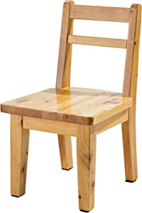 Frisby Hardwood Natural Birch Water Resistant Multipurpose Non Slip Sturdy Wooden Chair Stool for Children