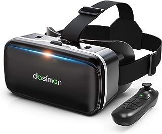 【令和進化型VRゴーグル】 VRヘッドセット VRヘッドマウントディスプレイ 超広角120° Bluetoothリモコン付 焦点距離&瞳孔間距離調整可 4.7-6.5インチスマホ対応 遠視/近視適用 3Dグラス 非球面光学レンズ メガネオン人対...