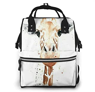 Clever Giraffe Print Diaper Bag Backpack,Multi-Function Maternity Nappy Bags For Travel,Large Capacity,Waterproof,Durable ...