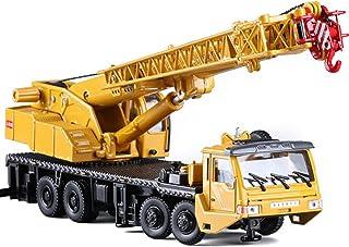 Simulation Miniature 1:55 Alloy Long Boom Crane Model, Engineering Heavy Crane Truck Vehicle Car Kids Die-Cast Model Toy G...