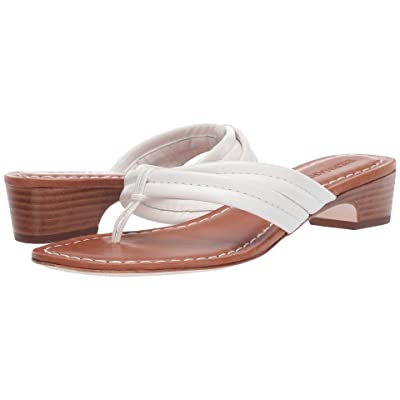 Bernardo Miami Demi Heel Sandals (White Antique Calf) Women