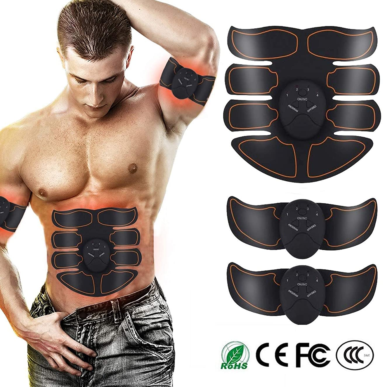 害虫帰るペネロペ腹筋トレーナー 筋肉刺激装置、 腹部調色ベルト、 腹部 マッスルトナー 6つのモード及び10のレベル強度 USB充電式 トレーニング機器、 に適し 体 いい結果になる 家に 事務所 ジム