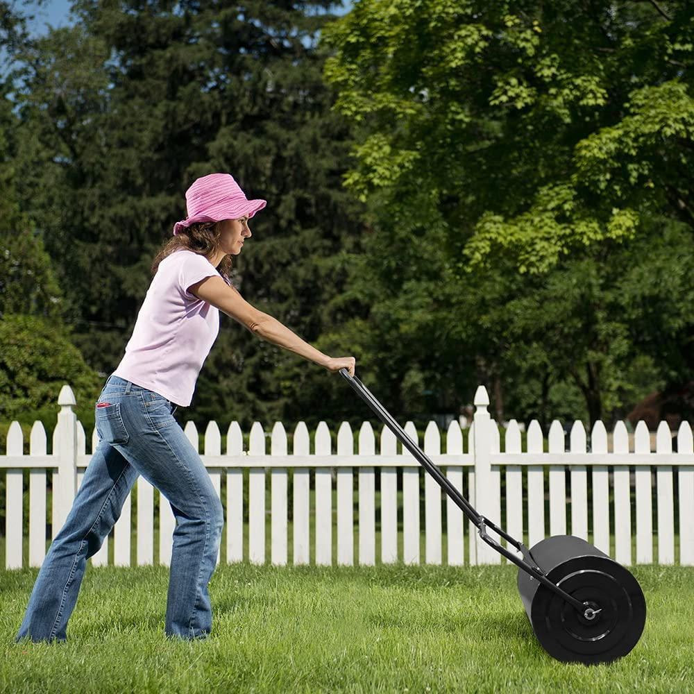 KIKIONLIFE Max 78% OFF Lawn Rollers Tow Behind 24inch Water Filled Gard 19.5 Charlotte Mall