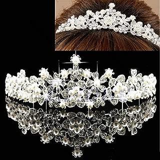 SimpleLife Bridal Crown Tiara, Vintage Crystal Wedding Crown para la Novia Princesa Tiara Bridal Hair Accessories
