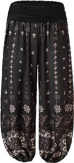 Women's Floral Print Elastic Waist Harem Pants