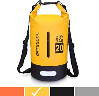 arteesol Waterproof Bag 5L/10L/20L/30L Dry Bag Rucksack with Double Shoulder Strap Backpack for Swimming Kayaking Boating Fishing Traveling Cycling Beach