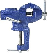 60 Mm 45# Banco Base Tornillo Banco Mesa MóVil Universal Acero Abrazaderas CarpinteríA Alta Resistencia Para CarpinteríA Corte Metales Corte Conductos Sierra (Azul)(60mm)