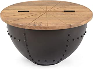 Christopher Knight Home 310921 Mabel Coffee Table, Natural, Black