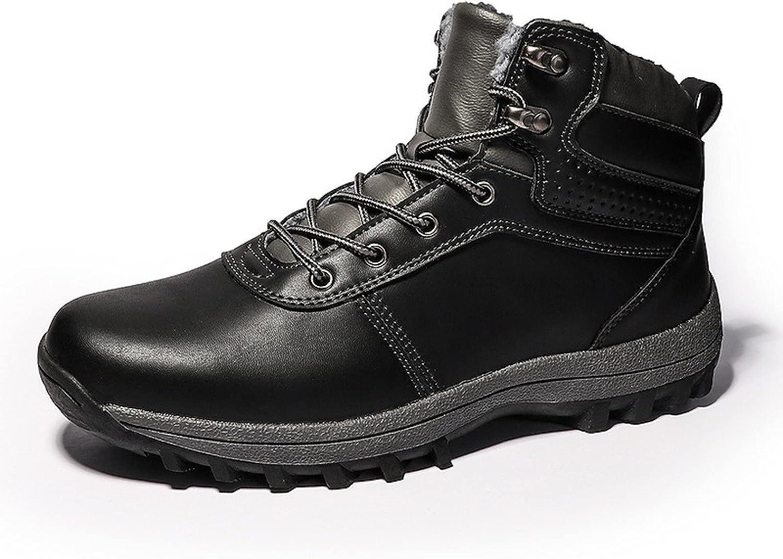 Zhousensen Men's Shoes Warm Snow Padded Hiking Boots half Adventure B Long Beach Mall