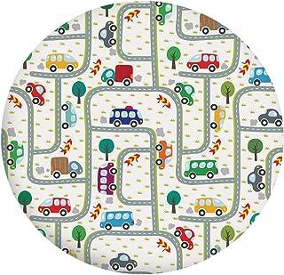 Nappe en polyester avec bords élastiques - Pour enfants - Dessin de voitures sur les routes - Motif urbain - Convient aux ...
