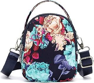 LEKODE Women Medium Capacity Oxford Messenger Bags Practical Bags Travel Square Totes(Multicoloured F)