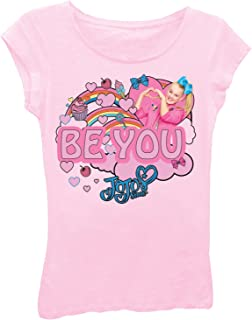 Nickelodeon Little Girls' JoJo Siwa Clouds and Rainbows Short Sleeve T-Shirt