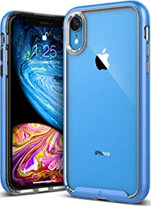 Caseology Skyfall for iPhone XR Case (2018) - Clear Back & Slim Fit - Blue