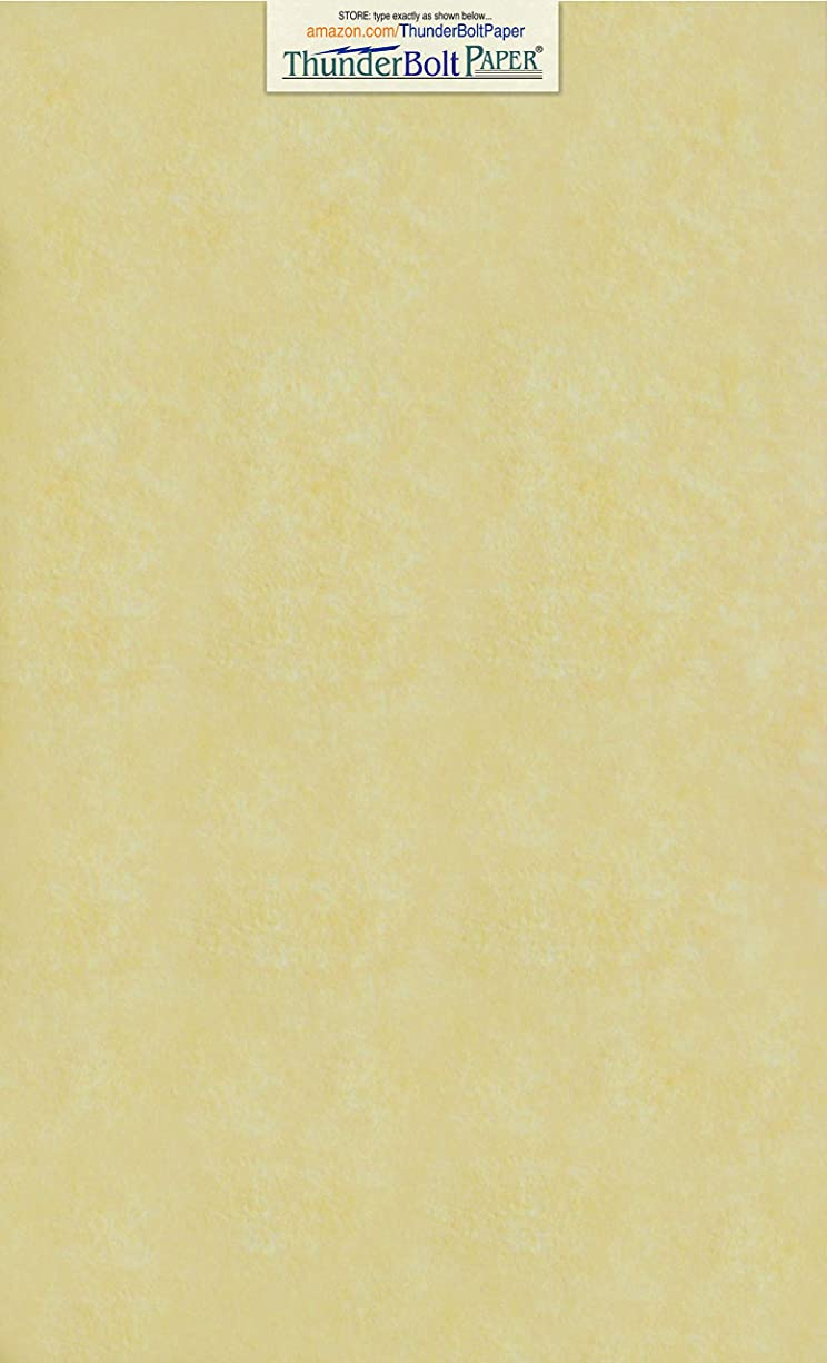 50 Gold Parchment 60lb Text Weight 8.5 X 14 inches Stationery Paper Colored Sheets Legal Size -Printable Old Parchment Semblance