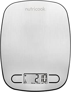 ميزان مطبخ رقمي نوتري كوك مصنوع من الستانلس ستيل يتحمل وزن 5 كغم من نوتري بوليت