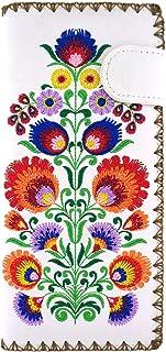 LAVISHY Embroidered Bohemian Flower Vegan/Faux Leather Large Flat Wallet