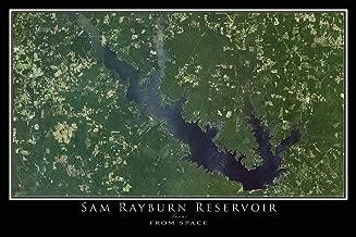 Sam Rayburn Lake Texas Satellite Poster Map L 24 x 36 inch