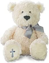 Nat and Jules The Lord's Prayer Bear With Ribbon, Cross Children's Plush Stuffed Animal