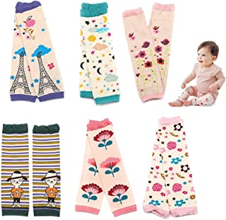 Kalevel 2 Pairs Baby Toddler Leg Warmers Cotton Infant Leggings Knee Pads Unisex