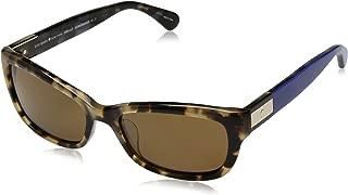 Kate Spade Women's Marilee/p/s Rectangular Sunglasses, Havana Blue/Bronze Polarized, 53 mm