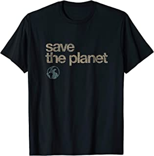 Vintage Save the Planet Shirt Save the Earth Distress Shirt