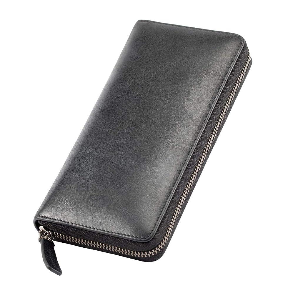 かび臭い彼ら中断[Mandiva] 長財布 本革 メンズ ラウンドファスナー 大容量 財布