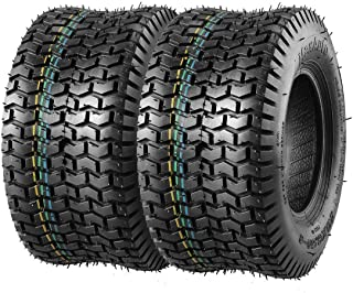 Set of 2 13x6.50-6 13x6.5x6 13/6.50-6 Turf Saver Tire Replacement for John Deere Craftsman Mower Lawn and Garden Tractor, 4PR, DOT Compliant