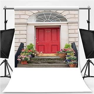 Edinburgh Door Entrance Photography Backdrop,160606 for Television,Flannelette:5x7ft