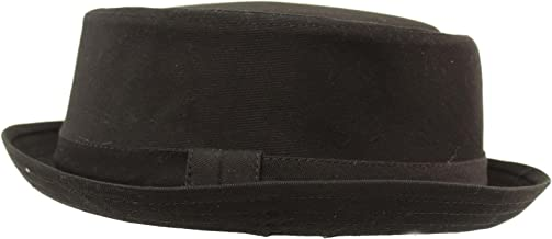 Men's Everyday Cotton All Season Porkpie Boater Derby Fedora Sun Hat