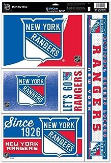 WinCraft NHL New York Rangers 88324014 Multi Use Decal, 11 x 17, Black