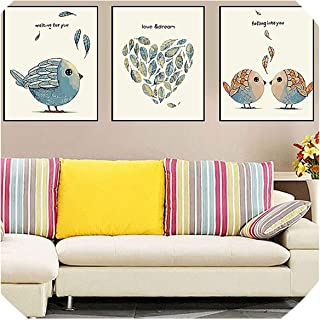 Be fearless 3 pcs DIY Oil Painting by Numbers Flower Triptych Pictures Animal Coloring Landscape Abstract Paint Wall Sticker Home Decor Gift,40x50x3pc with Frame,10 Treasure