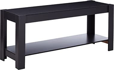 Furinno Parsons Entertainment Center Television Stand/Coffee Table, Black