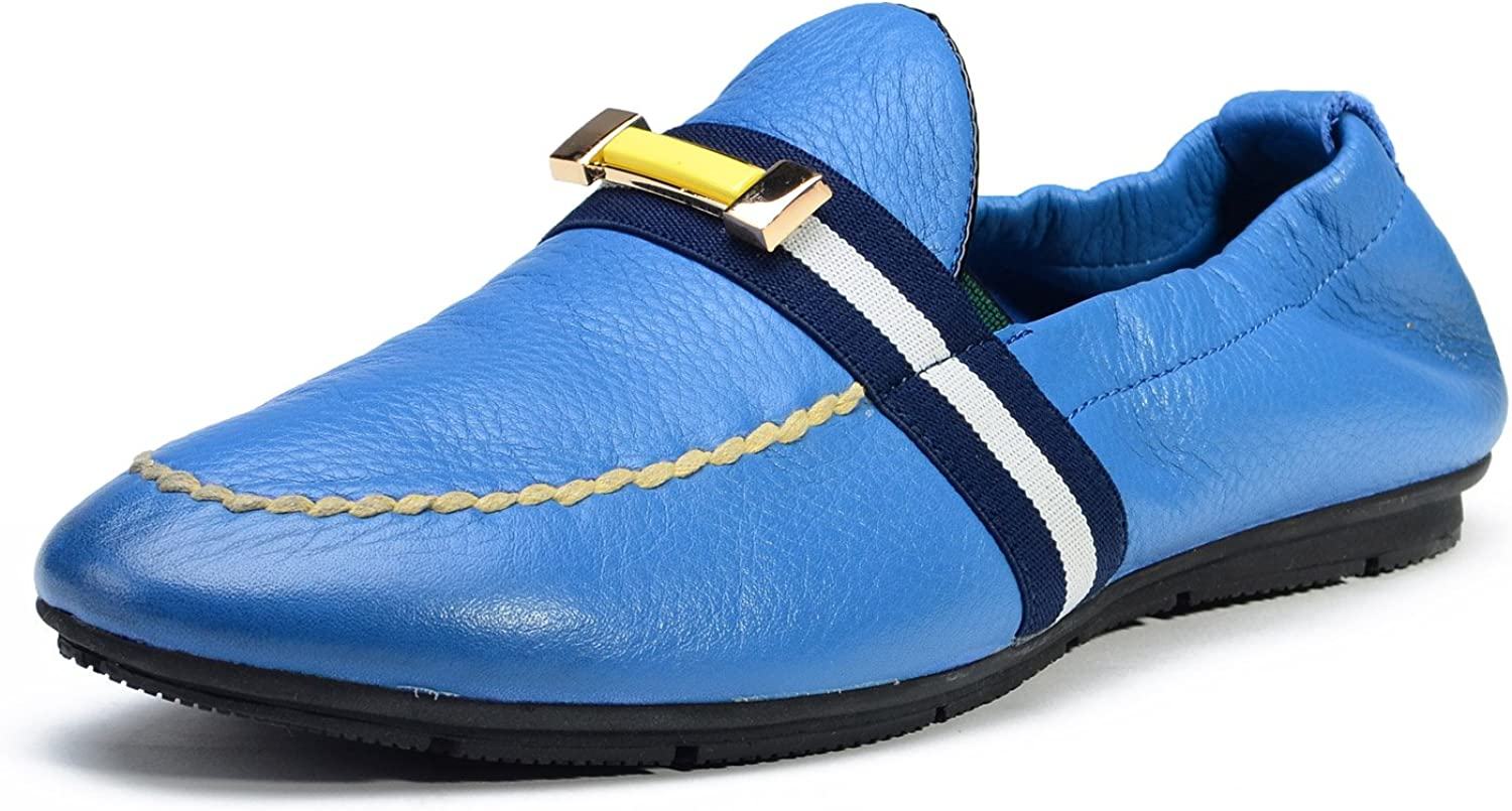 Do.BOMRVII Casual Loafers Mans Driving Driving Driving skor  fritid
