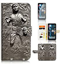 (for Google Pixel 2 XL) Flip Wallet Case Cover & Screen Protector Bundle - A8555 Starwars Han Solo in Carbonite