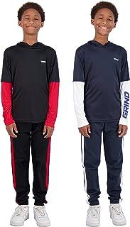 پیراهن هند 4 تکه آستین بلند آستین بلند سریع خشک و لباس ورزشی بچه گانه Jogger برای بچه ها برای ورزش و دویدن