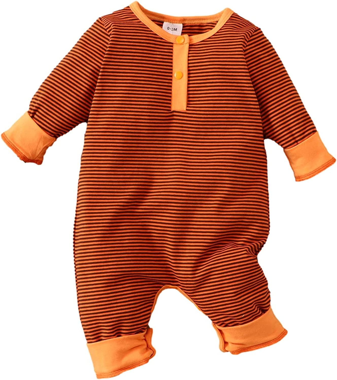 Baby Romper Autumn Winter Clothes Max 81% Las Vegas Mall OFF Jumpsuit Newborns Striped Pull